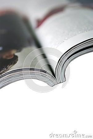 Magazine isolated on white background.