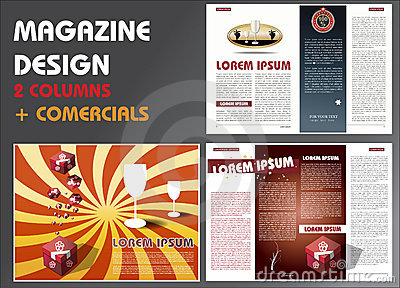 Magazine layout design template