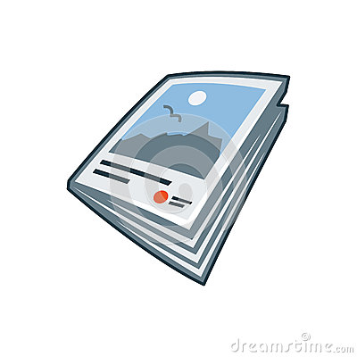 Free Magazine Or Brochure Icon In Cartoon Style Stock Image - 38050391