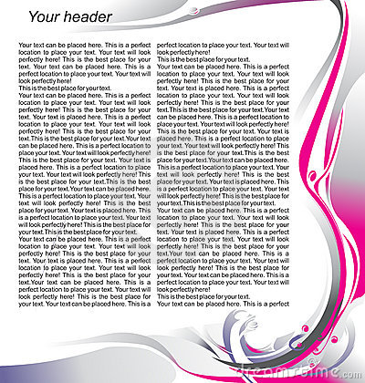 Magazine page template