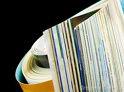 Magazine pages closeup