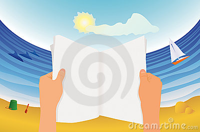Magazine Reader On The Beach Royalty Free Stock Photo - Image: 7982525