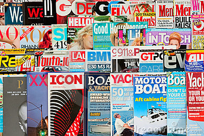 Magazines Editorial Stock Image