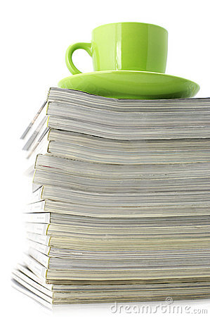 Free Magazines And Coffee Cup Stock Photo - 13537160