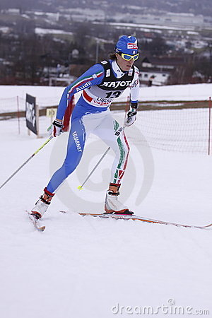 Magda Genuin - cross country skier Editorial Stock Photo