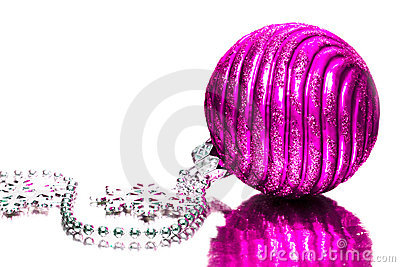 Magenta festive decoration