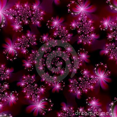 Free Magenta Pink Fractal Stars In Space Abstract Background Royalty Free Stock Photos - 1986678