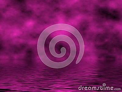Magenta Sky & Water