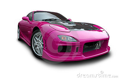 Magenta Sports Car Royalty Free Stock Images Image 8278509