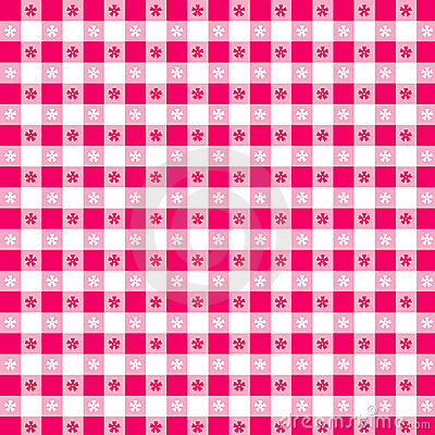 Magenta Tablecloth Seamless Pattern
