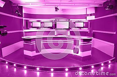 Magenta television studio