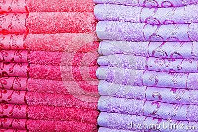 Magenta towels