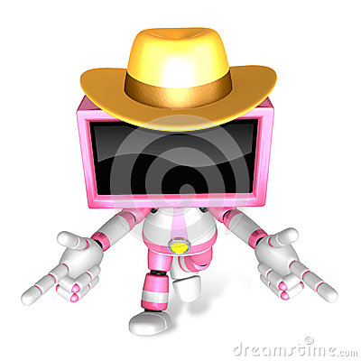 Magenta TV character are kindly guidance. Create 3D Television R