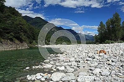 Maggia valley in Ticino Switzerland
