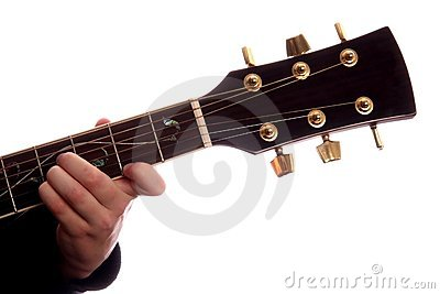Maggiore della corda B della chitarra