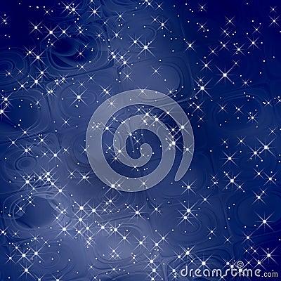 Magic background blue scales / Stars