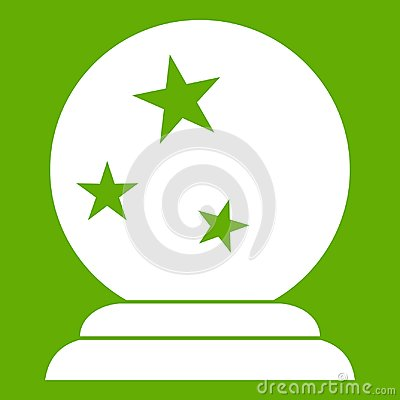 Free Magic Ball Icon Green Royalty Free Stock Images - 105276419