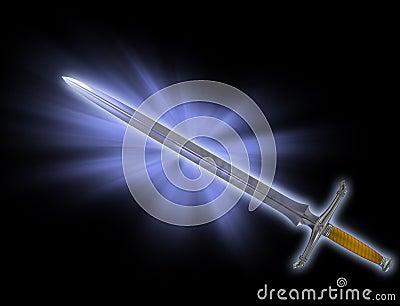 Magic battle sword