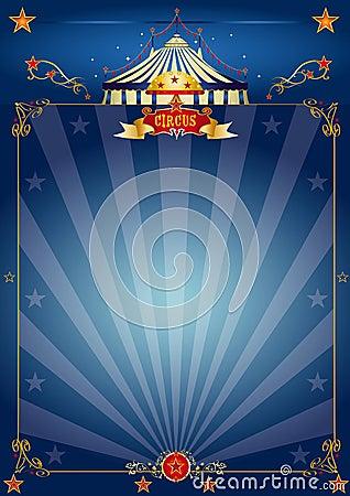 Free Magic Blue Circus Poster Stock Photography - 23622622