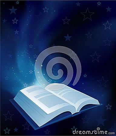 Magic book background