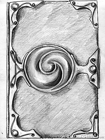 Magic book cover - sketch
