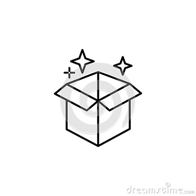 Magic box outline icon. Signs and symbols can be used for web, logo, mobile app, UI, UX Vector Illustration
