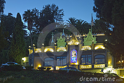 The Magic Castle in Hollywood at Night Editorial Stock Image