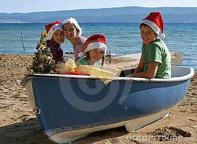Magic Christmas on boat