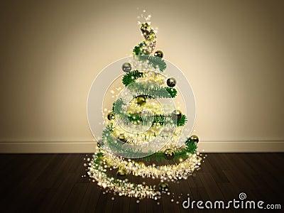Magic Christmas Tree Decorated