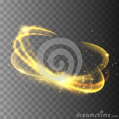Free Magic Circle Isolated On Transparent Backgroun. Vector Glow Ring. Royalty Free Stock Photos - 110399918
