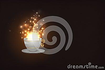 Magic Coffee Royalty Free Stock Image - Image: 24451686