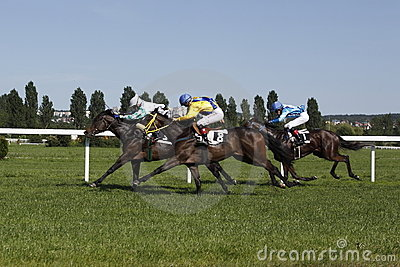 Magic Corfu race at horse racing in Prague Editorial Image