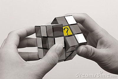 Magic cube Editorial Image