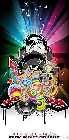 Magic Disco Music Event Background