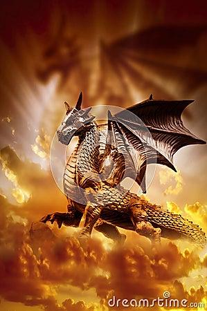 Free Magic Dragon Stock Photography - 29502982