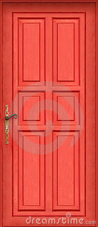 Magic entire red door