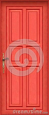 Magic entire red door