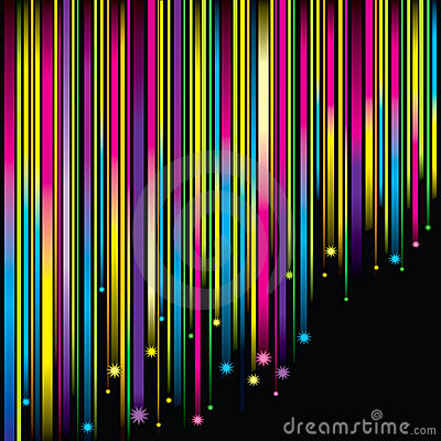 Magic Falling Stars Background