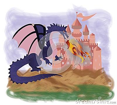 Free Magic Fire Dragon Stock Image - 51578031