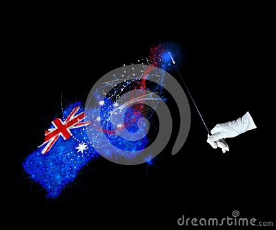 Magic flag of Australia