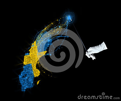 Magic flag of Sweden