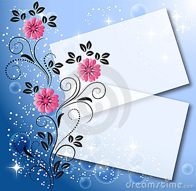 Magic floral background