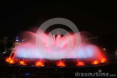 The Magic Fountain - Barcelona Editorial Photography