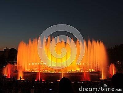 The Magic Fountain - Barcelona Editorial Stock Image
