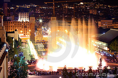 Magic fountain in Barcelona, Spain