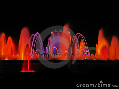 Magic fountain detail