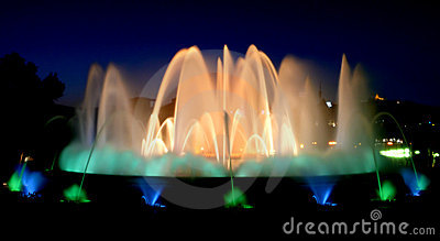 Magic fountains in Barcelona
