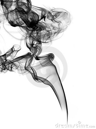 Magic fume abstract over white