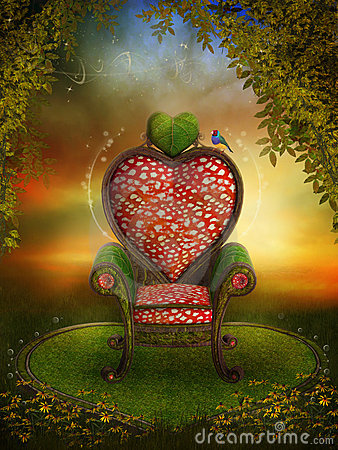 Free Magic Garden With A Fairy Throne Royalty Free Stock Photography - 16288807