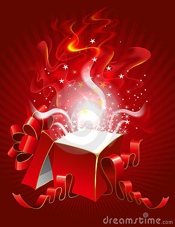Free Magic Gift Box Stock Photography - 16216052